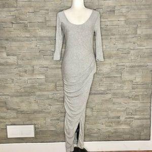 Revamped grey maxi dress